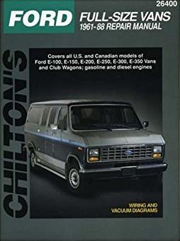 Ford Full-Size Vans, 1961-88 (Chilton Total Car Care Series Manuals)