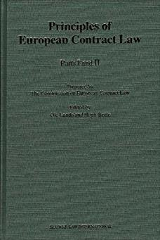 The Principles of European Contract Law, Parts I and II (Pts.1 & 2)
