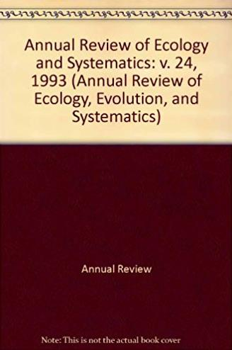 24: Annual Review of Ecology and Systematics: 1993 (Annual Review of Ecolog ...