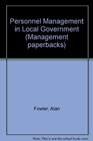 Personnel Management in Local Government (Management paperbacks)
